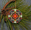 Ornament Christmas Ceramic Hummingbird Mandala All Occasion Sacred Geometry Kaleidoscope Boho Chic New Age Bohemian Modern Unique Hyper Hummer
