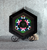 Butterfly Fine Art Photograph Sacred Geometry Kaleidoscope Framed Flawless Fascination