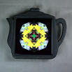 Bumble Bee Trivet Cast Iron Teapot Ceramic Tile Mandala Sacred Geometry Busy Bee