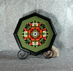 Lily and Daisy Photograph Sacred Geometry Kaleidoscope Framed Wall Decor Summer Dreams