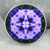 Crocus Magnet Glass Geometric Kaleidoscope Mandala Prelude of Spring