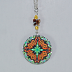 Butterfly Charm Necklace Silver Mandala Sacred Geometry Kaleidoscope Jeweled Jubilee