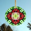 Butterfly Monarch Suncatcher Glass Mandala Sacred Geometry Kaleidoscope Summer Sensation