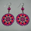 Heart Earrings Dangle Boho Chic Mandala New Age Sacred Geometry Hippie Kaleidoscopic Thats Amore