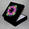 Floral Music Box With Ceramic Tile Top Boho Mandala New Age Sacred Geometry Wonderfully Wild