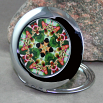 Exotic Orchid Compact Mirror Sacred Geometry Mandala Kaleidoscope My Heart's Desire