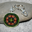Butterfly Key Chain Sacred Geometry Mandala Monarch Melody