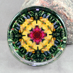 Dragonfly Glass Paperweight Sacred Geometry Mandala Kaleidoscope Do-Si-Do