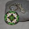 Butterfly Keychain Purse Charm Boho Chic Mandala New Age Sacred Geometry Hippie Kaleidoscope Subtle Beauty
