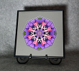 Bleeding Heart Chakra Mandala Kaleidoscope Framed Fine Art Print With Mat Kaleidoscopic Nature Photography Flower Photograph Unique Wall Decor Thats Amore