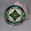 Butterfly Glass Paperweight Boho Chic Mandala New Age Sacred Geometry Kaleidoscope Subtle Beauty