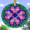 Bleeding Heart Glass Sun catcher Sacred Geometry Mandala Kaleidoscope Love Struck