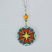Butterfly Charm Necklace Silver Mandala Sacred Geometry Kaleidoscope Timeless Treasure