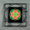 Lily Trivet Black Iron Mandala Sacred Geometry Kaleidoscope Blooming Inspiration