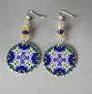 Iris Earrings Silver Mandala Sacred Geometry Kaleidoscope Eternal Elation