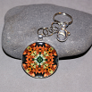 Lily Key Chain Sacred Geometry Mandala Summer Sizzle
