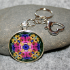 Daisy Key Chain Sacred Geometry Mandala Daisy Delight