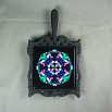 Butterfly Trivet Cast Iron Ceramic Tile Mandala Sacred Geometry Kaleidoscope Whimsical Persuasion