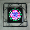 Lily Trivet Black Iron Ceramic Tile Mandala Sacred Geometry Kaleidoscope Innocent Flirtation