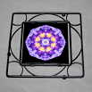 Pansy Trivet Black Iron Boho Chic Mandala New Age Sacred Geometry Hippie Kaleidoscope Purple Prose