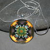 Bee Pendant Necklace Boho Chic Mandala New Age Sacred Geometry Hippie Kaleidoscope BEElieve