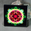 Butterfly Decorative Ceramic Tile Mandala Sacred Geometry Kaleidoscope Warm Embrace