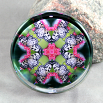 Butterfly Glass Paperweight Kaleidoscope Mandala Sacred Geometry Nymph Nirvana