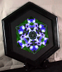 Iris Fine Art Photography Sacred Geometry Kaleidoscope Framed Circle Of Purple