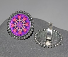Mandala Chakra Rings and Brooches