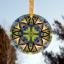 Butterfly Tiger Swallowtail Suncatcher Glass Mandala Sacred Geometry Kaleidoscope Aurora's Aria