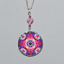 Rose Charm Necklace Silver Mandala Sacred Geometry Kaleidoscope Petals of Poise