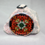 Tiger Lily Daisy Floral Glass Ornament Sacred Geometry Mandala Kaleidoscope Summer Sizzle