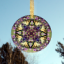 Butterfly & Lilac Glass Suncatcher Kaleidoscope mandala Geometric Wafting Spirit