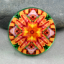 Dragonfly and Tiger Lily Magnet Sacred Geometry Mandala Kaleidoscope Opulent Solace
