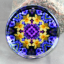 Daffodil Glass Paperweight Sacred Geometry Mandala Kaleidoscope Sentimental Spring