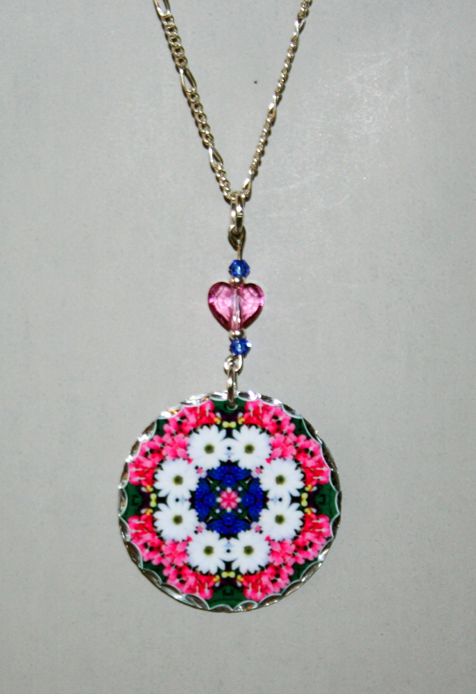 Mandala Pendant Charm Necklace