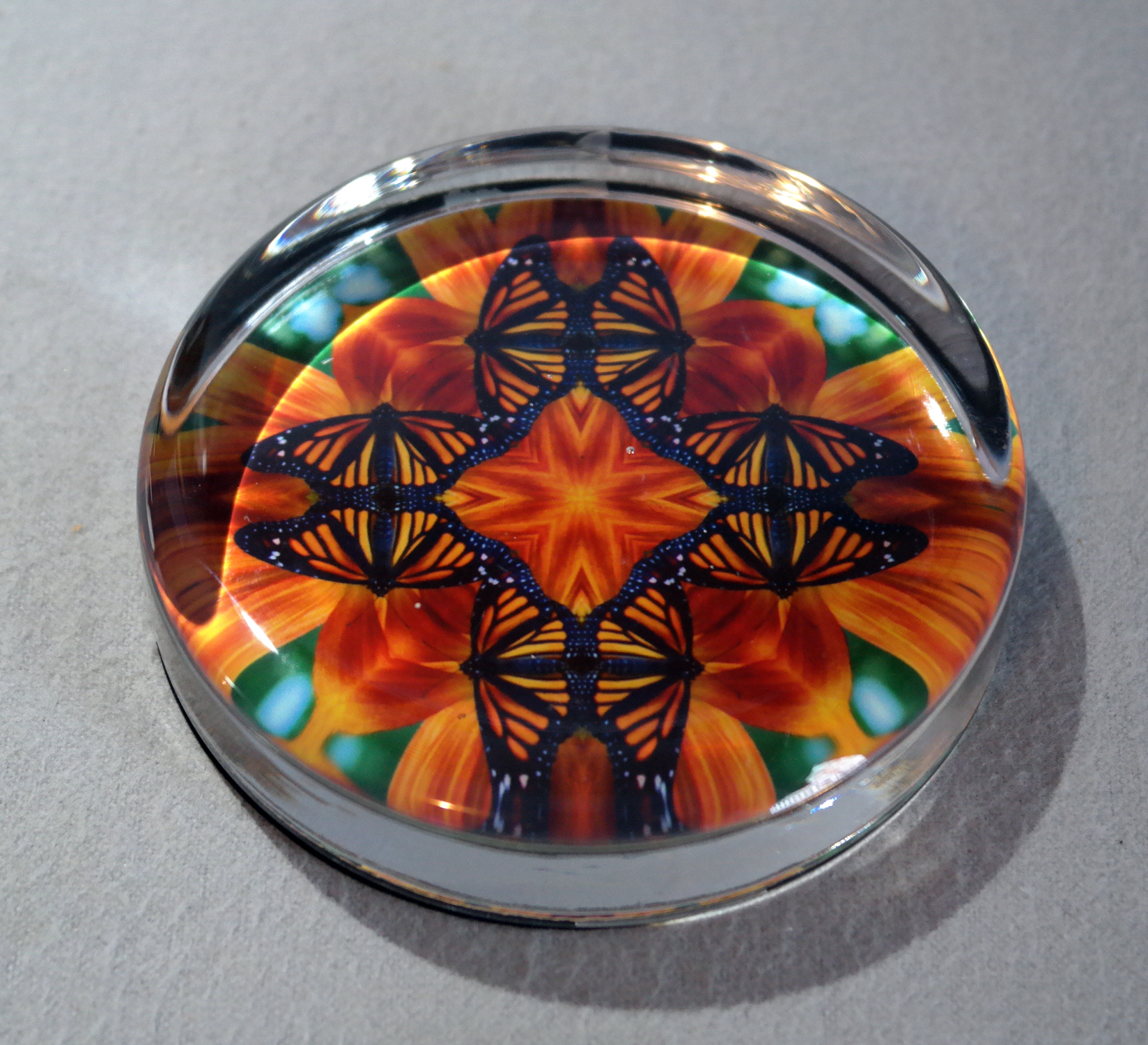 Monarch Butterfly Glass Paperweights