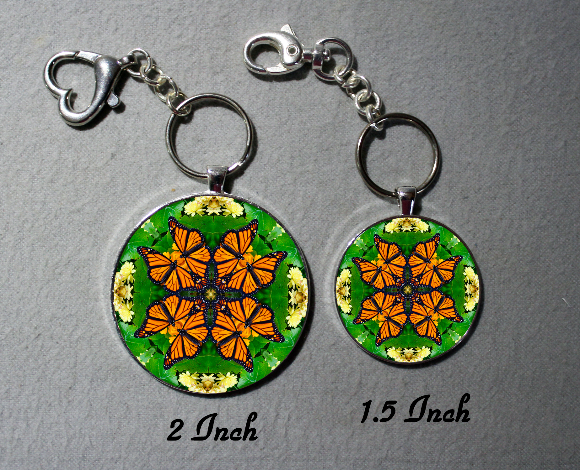 Key Chains Purse Charms Monarch Butterfly