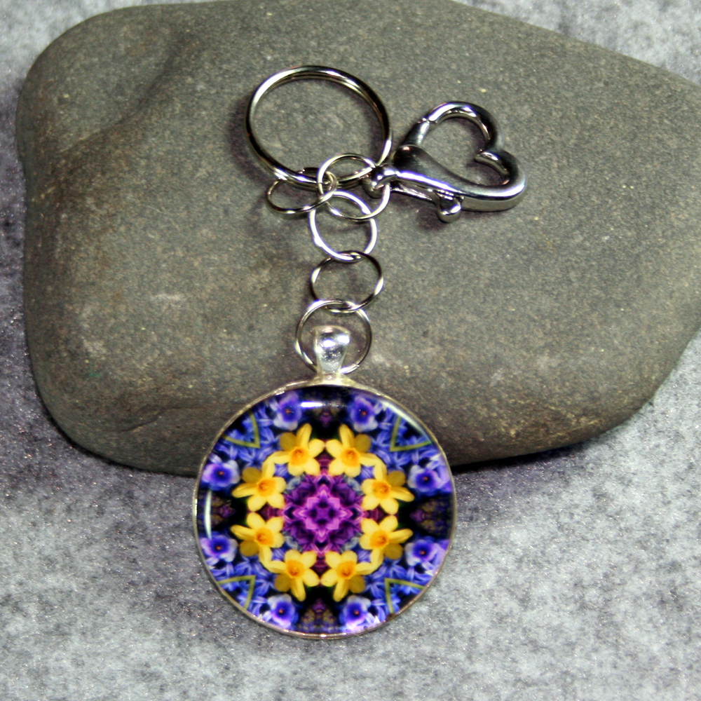 Flower Purse Charms Keychains