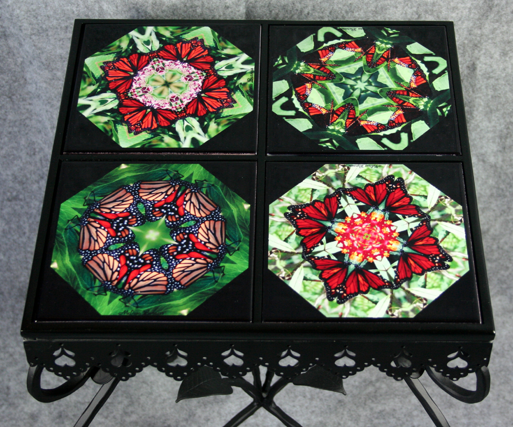 Mandala chakra kaleidoscope unique gifts melbe creations side table chat table dailygadgetfo Images