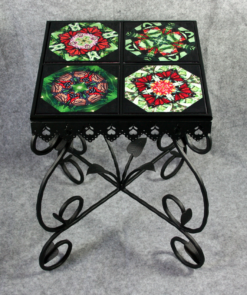 Mandala chakra kaleidoscope unique gifts melbe creations end table side table chat table dailygadgetfo Choice Image
