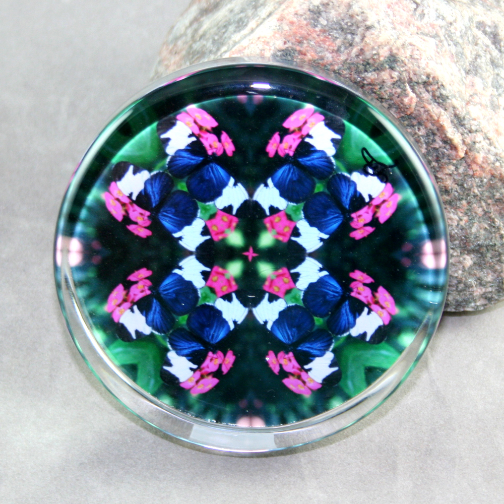 Butterfly Glass Paperweight Mandala Sacred Geometry Kaleidoscope Whimsical  Persuasion