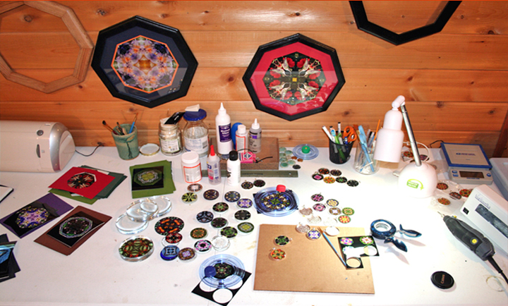 Kaleidoscope Art - Creativity workspace