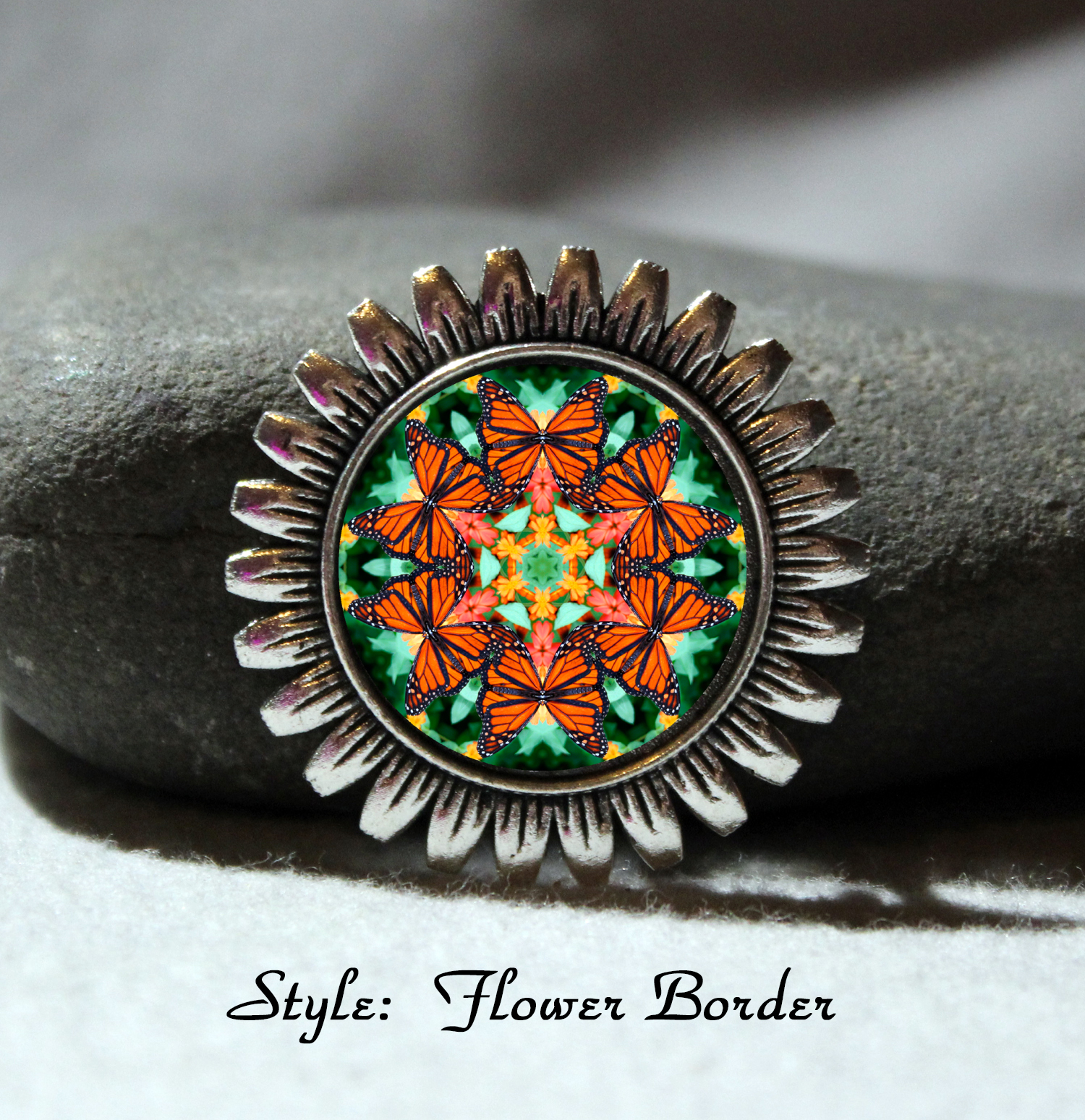 Brooch Lapel Pin Collar Pin Hat Pin Scarf Pin Monarch Butterfly Mandala Sacred Geometry Unique Gift For Her A Myriad Of Maitri