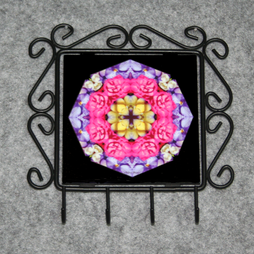 Rose Organizer Rack Jewelry Rack Key Rack Utensil Rack Boho Chic New Age Sacred Geometry Kaleidoscope A Fanciful Fondness