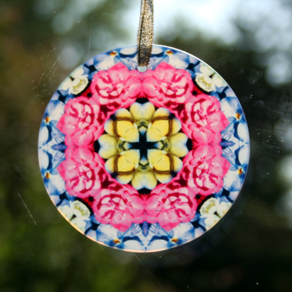 Rose Suncatcher Boho Chic Mandala Sacred Geometry New Age Kaleidoscope A Fanciful Fondness