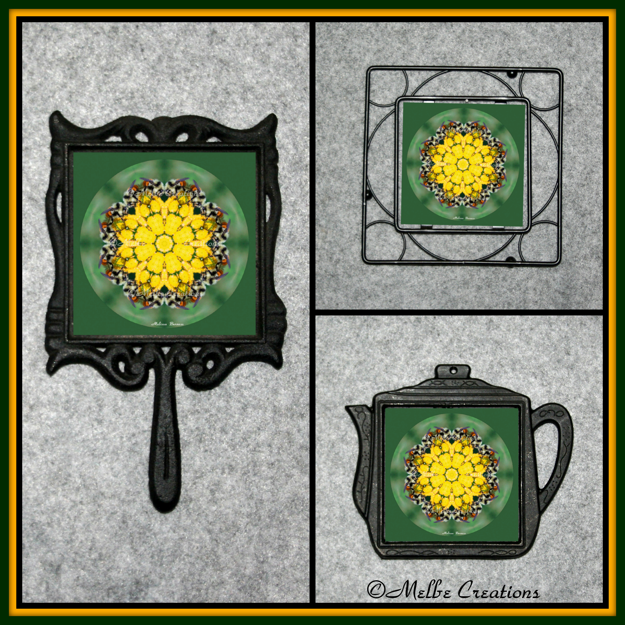 Cast Iron Metal Teapot Kitchen Trivet Honey Bee Decor Chef Foodie Housewarming Wedding Gift Bee 2