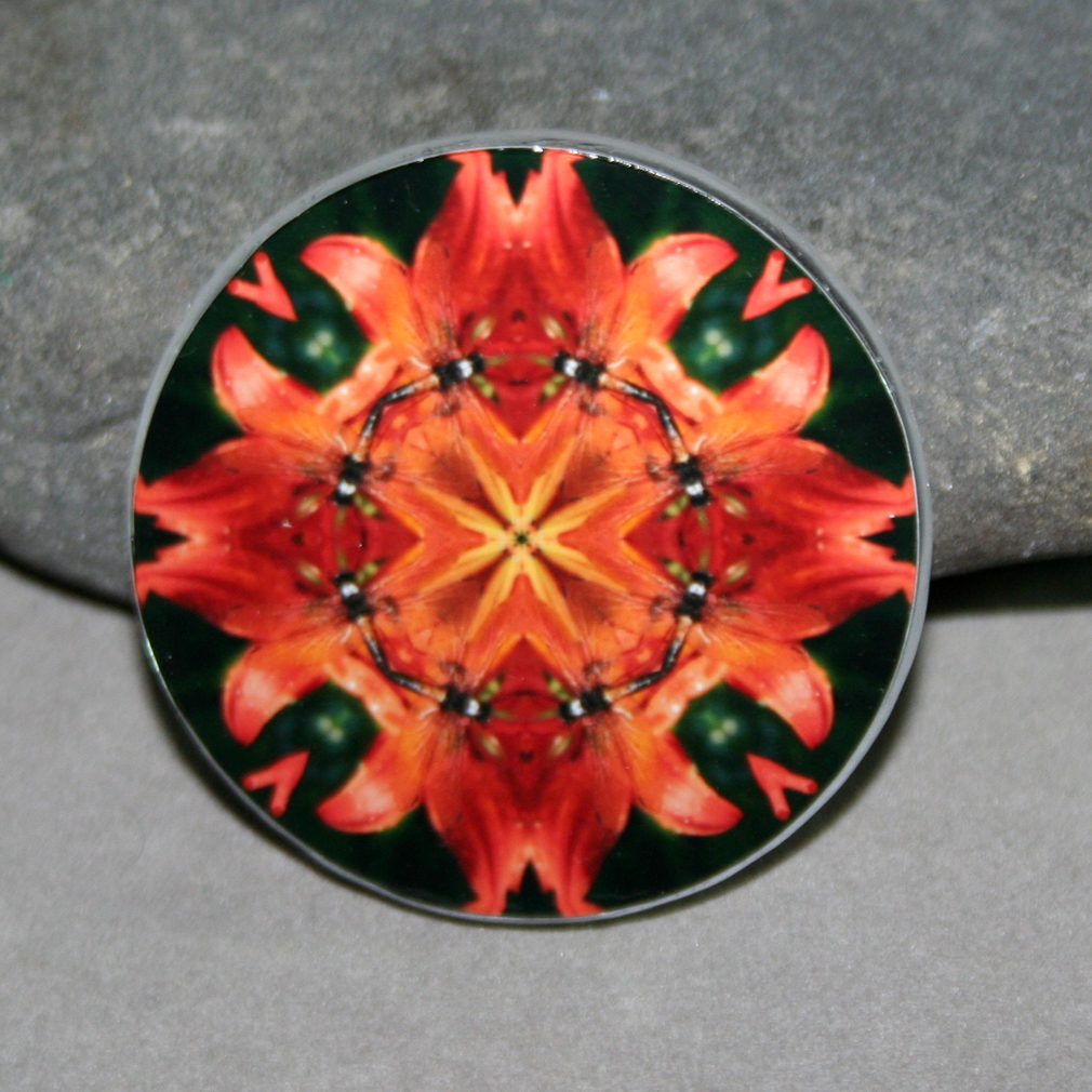 Dragonfly Magnet Boho Chic Mandala New Age Sacred Geometry Kaleidoscope Blaze of Glory