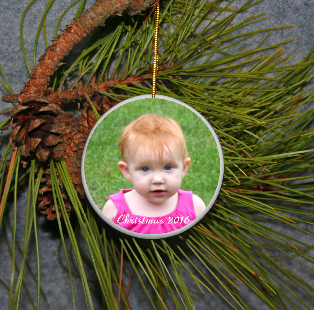 Personalized Christmas Ornament Photo Ornament Babys First Christmas Ornament Pet Ornament Wedding Ornament Family Ornament