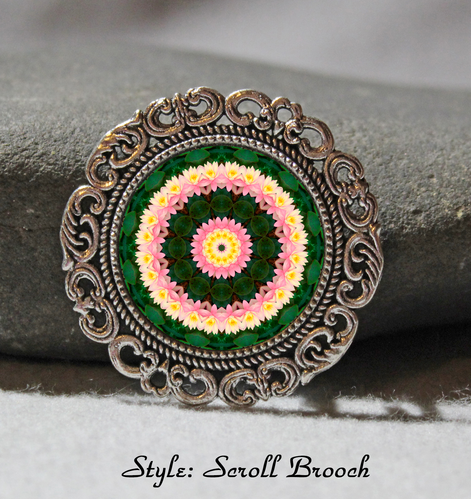 Brooch Lapel Pin Collar Pin Hat Pin Scarf Pin Lotus Flower Chakra Mandala Sacred Geometry Unique Gift For Her Enlightened One
